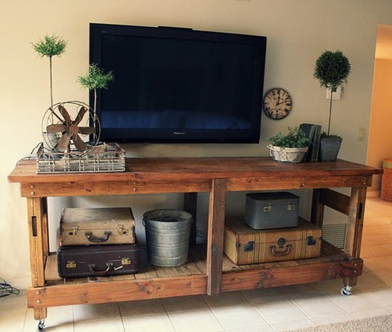 12 Diy Old Pallet Stairs Ideas: DIY Pallet Ideas – TV Stand