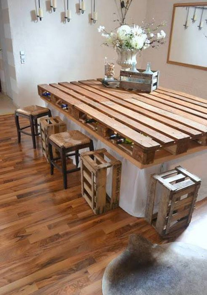 pallet homemade bar table