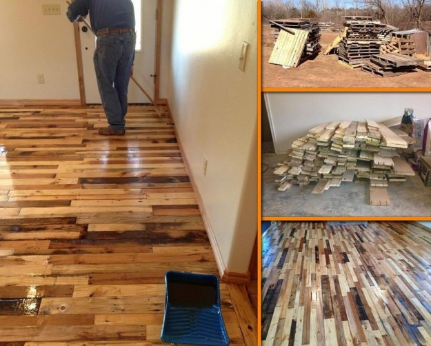 Diy pallet wood flooring tutorial diy pallet ideas for Diy wood flooring ideas