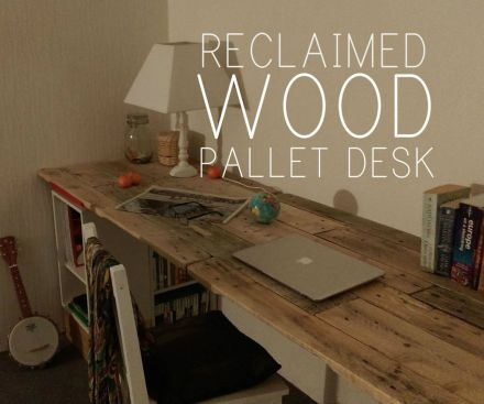 diy pallet wood desk